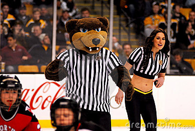 Blades -- Boston Bruins mascot Editorial Stock Image