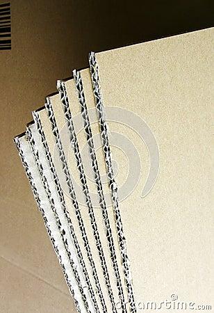 Blades of cardboard