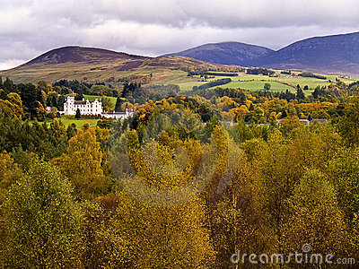 Blair castle in the autumn