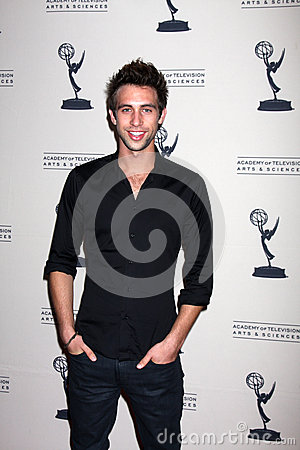 Blake Berris arrives at the ATAS Daytime Emmy Awards Nominees Reception Editorial Stock Photo