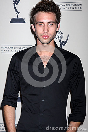 Blake Berris arrives at the ATAS Daytime Emmy Awards Nominees Reception Editorial Stock Image
