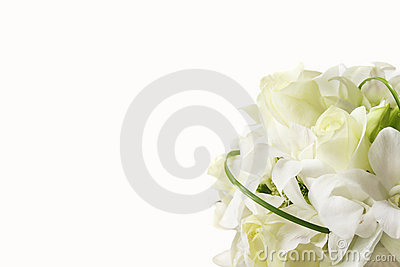 Blanc de mariage de bouquet