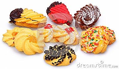 Blandade italienska Biscotti kakor