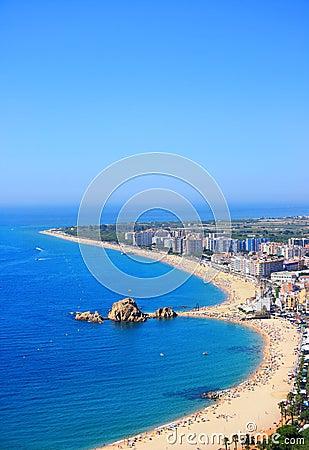 Blanes beach (Costa Brava, Spain)