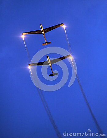 The Blanix Glider Team. Editorial Stock Image