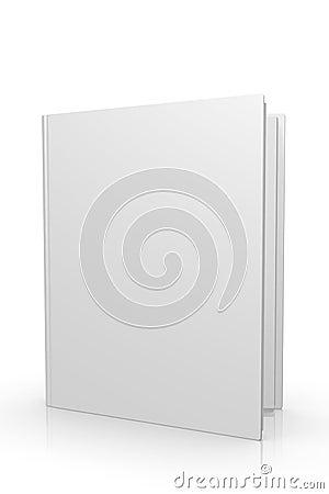 Blank öppnad kvalitet för bok 3d hög tidskrift