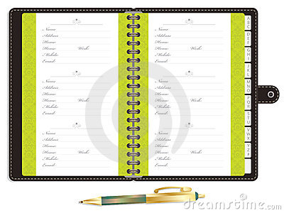 Template For Address Book. personal address book office templates ...