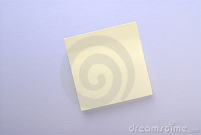 Blank adhesive note