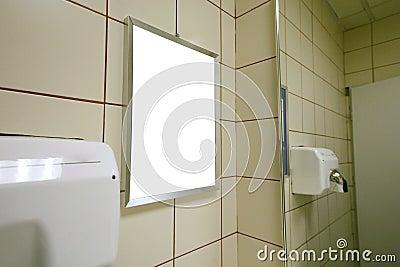 Blank advert in public toilet