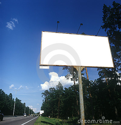 Blank advertising board.