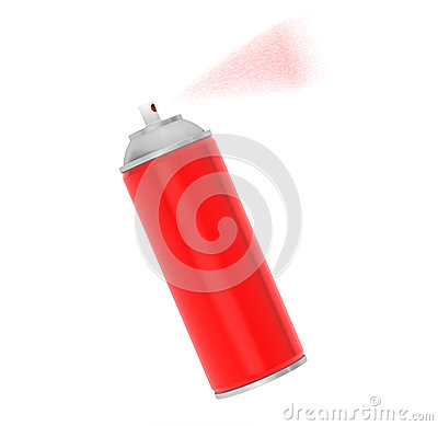 Free Blank Aluminum Red Spray Can Royalty Free Stock Photo - 46264365
