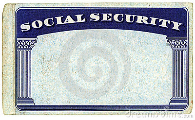 Blank American Social Security Card