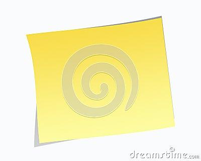 Blank anmärkningsstolpe