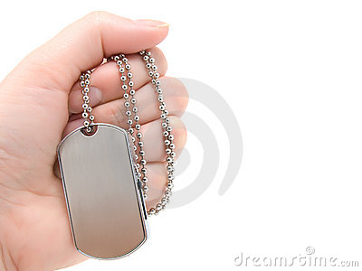 Blank army dog tags