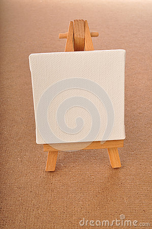 Blank art board, wooden easel