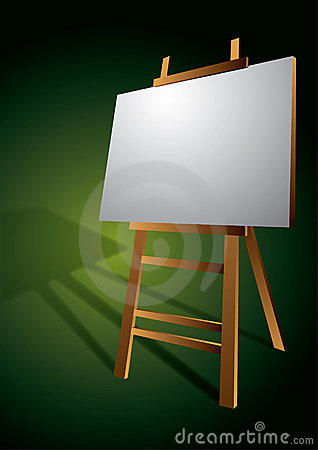 Blank Artist Canvas on Easel