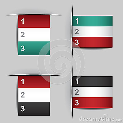Blank attached paper fictional flags