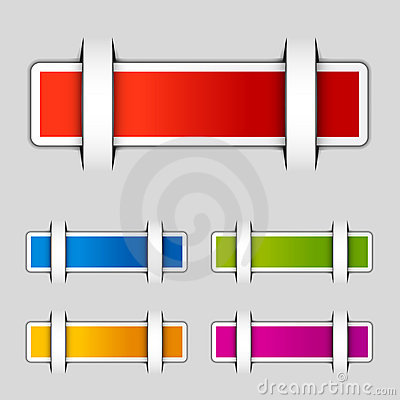 Blank attached rectangle labels