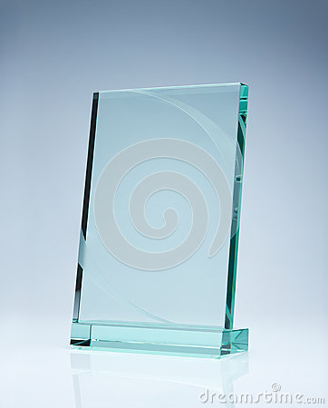 Blank award with copy space