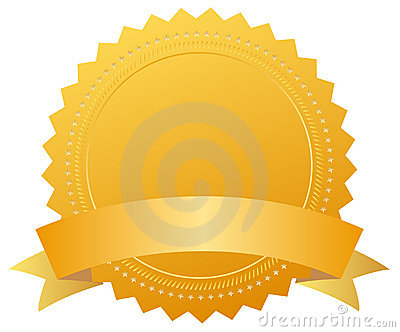 Blank award golden medal