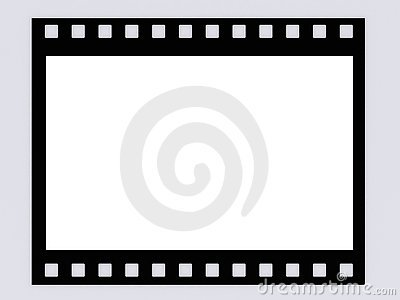 Blank B&W film strip frame