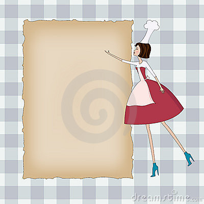 Blank background with a chef