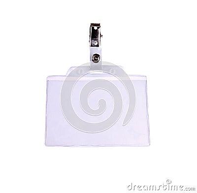 Blank badge/ ID card