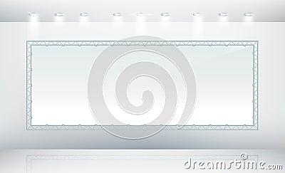 Blank banner canvas
