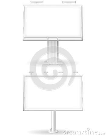 Blank bilboard for advertising and announcements