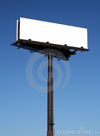 Free Blank Billboard Against Blue Sky Royalty Free Stock Photography - 698637