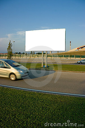Free Blank Billboard And Car Royalty Free Stock Photo - 6392345
