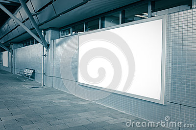 Blank billboard with empty copy space