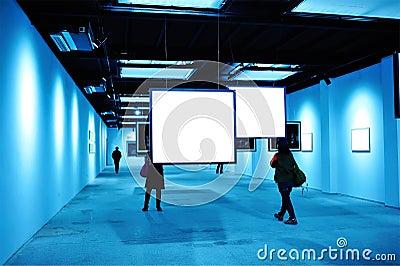 Blank billboard indoor Editorial Photo