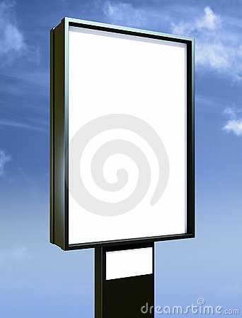 Free Blank Billboard Over Blue Sky Stock Photos - 11460213