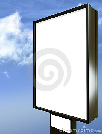 Free Blank Billboard Over Blue Sky Stock Image - 11460271