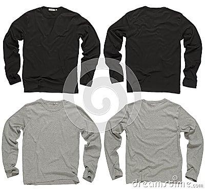 Free Blank Black And Gray Long Sleeve Shirts Royalty Free Stock Photos - 14288088