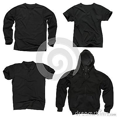 Free Blank Black Clothing Royalty Free Stock Images - 7862739
