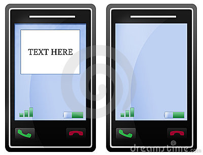 Blank black mobile phone screen
