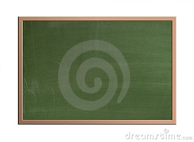Blank blackboard, isolated