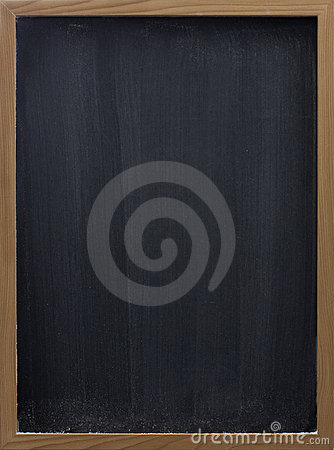 Free Blank Blackboard With Vertical Eraser Smudges Royalty Free Stock Image - 8097406