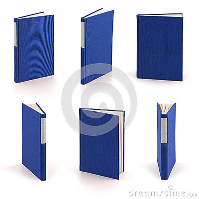 Blank blue book - clipping path