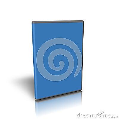 Blank blue DVD case