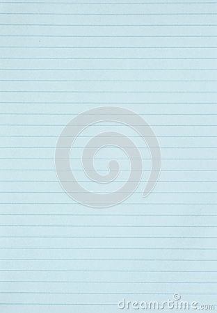 Blank blue lined paper background or textured