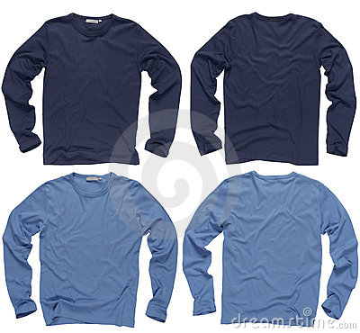 Blank blue long sleeve shirts