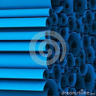 Blank blueprint roll of paper