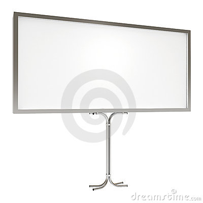 Blank board for advertisement, with clipping path