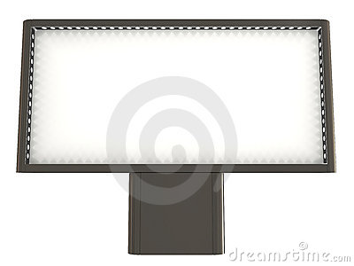 Blank board, clipping path included