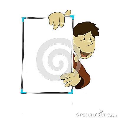 Blank board man
