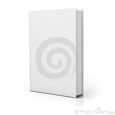 Blank book cover with reflection