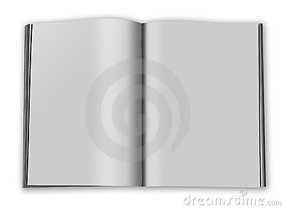 Blank book open